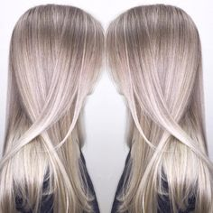 """""""Ash blonde achieved with babylights, in-foil balayage, and freehand balayage. The mix of these 3 techniques creates the most beautiful, bright color with…"""""""