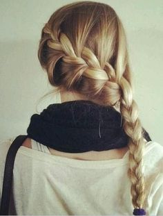 15 Hair Ideas You Need to Try This Summer - Braids are a classic go to hairstyle for summer, but switch things up with a French braid styled to the side.