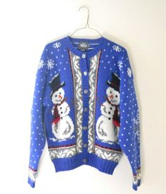 Ugly Christmas Sweater Cardigan Women Medium Men Small Vintage Woolrich Wool
