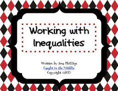 Task Cards for Working with Inequalities
