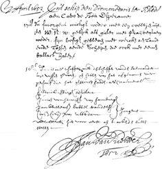 Old script - Jan van Riebeeck