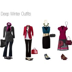 """Deep Winter Outfits"" by nofailformula on Polyvore"