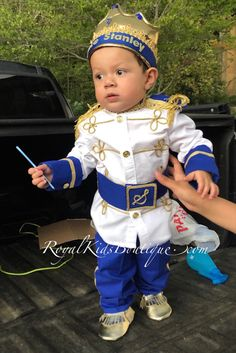 Personalized Prince Charming outfit, customized specially for each Prince.  Other colors and sizes available.  Perfect for wedding, baptism, Christening, or any other special event