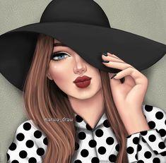 🎨Arte Beautiful Girl Drawing, Cute Girl Drawing, Beautiful Drawings, Best Friend Drawings, Girly Drawings, Girly M, Girly Girl, Lovely Girl Image, Girls Image