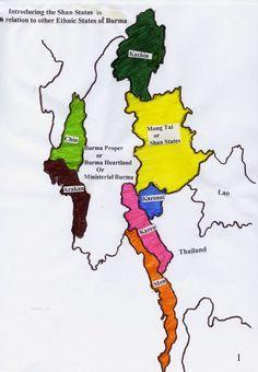 Shan States Map
