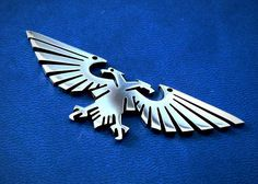 Aquila Imperial eagle pendant or keychain stainless steel / Warhammer 40k Aquila necklace / Warhammer 40k / Warhammer 40000 / Aquila pendant by FanCraftShop on Etsy