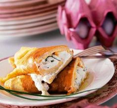 Omlet z twarożkiem Eggs, Breakfast, Food, Morning Coffee, Essen, Egg, Meals, Yemek, Egg As Food