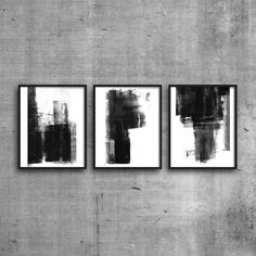 Printable Triptych, Scandinavian Art, Abstract Print Set, Abstract Art, Neutral Wall Art, Minimalist Art, Set of 3 Prints, Digital Download by MinimalInstant on Etsy