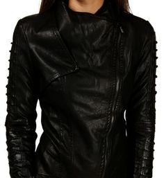Black Asymmetrical String Jacket