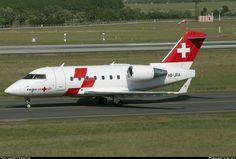 HB-JRA Swiss Air-Ambulance Canadair CL-600-2B16 Challenger 604 taken 2013-05-10 at Budapest - Ferenc Liszt International (Ferihegy) (BUD / LHBP) airport, Hungary by András Soós