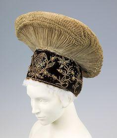 Headdress /Date: fourth quarter 19th century Culture: Austrian Medium: cotton, metal