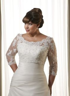 Free Shipping 2013 Fashion Plus Size Tulle Lace Wedding Accessory Shawl Wrap Bolero Jacket 3/4 Sleeve Women-in Wedding Jackets / Wrap from Apparel & Accessories on Aliexpress.com