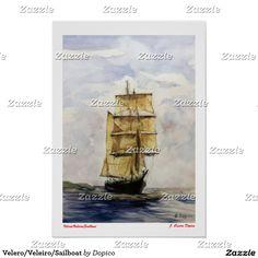 Velero/Veleiro/Sailboat Poster