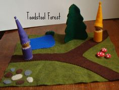 Waldorf Wool Felt Playscape  Two Peg Gnomes  by TheToadstoolForest, $25.00