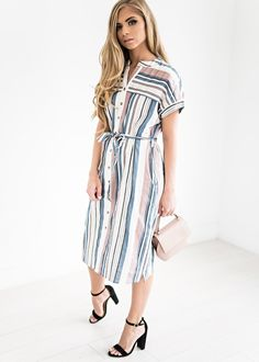 Retro Voyager Dress, jessakae, wedding attire, bridesmaids, floral, fashion, style, blogger, bow, southern style, modest, summer dress, wedding, floral, maternity friendly, mother of the bride, navy dress, midi dress, plus size fashion, striped dress