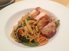 Spaghetti keemao chicken at the terrace