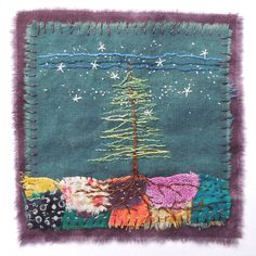 Textile Art 615656211538679585 - Image of She Grew Her Own Roots Source by Sashiko Embroidery, Embroidery Applique, Embroidery Stitches, Embroidery Patterns, Machine Embroidery, Japanese Embroidery, Sewing Art, Sewing Crafts, Sewing Tips