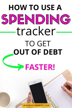 Does it feel like your debt free journey is just taking too long? Here's how to try a spending tracker to help you keep on top of your finances, save money more easily and pay off debt faster. Spending Tracker, Budgeting Worksheets, Living On A Budget, Get Out Of Debt, Budgeting Money, Financial Tips, Budget Planner, Debt Payoff, Debt Free