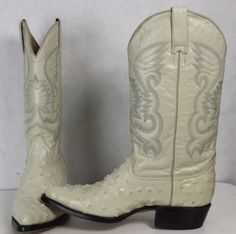 Rebelde-Leather-Ostrich-Print-Western-Cowboy-Ranch-Rodeo-Work-Boots-Mens-7