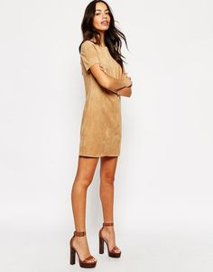 Make your own swing dress from MJTrends faux suede!