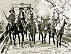 On the cusp of the 20th century, in 1892, these four Texas Rangers ride into the history books.  —Courtesy Institute of Texan Cultures at University of Texas-San Antonio—