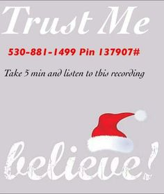 If you trust me...you WILL call this number now. You will not regret it! #IBelieve www.NancyLWPoe.Le-Vel.com