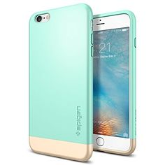 iPhone 6s Plus Case, Spigen® [Style Armor] Safe Slide [Mint] SOFT-Interior Scratch Protection with Dual Layer Trendy Hard Case for iPhone 6s Plus (2015) - Mint (SGP11661) Spigen http://www.amazon.com/dp/B010MVQWQ2/ref=cm_sw_r_pi_dp_.sufwb096GQXX