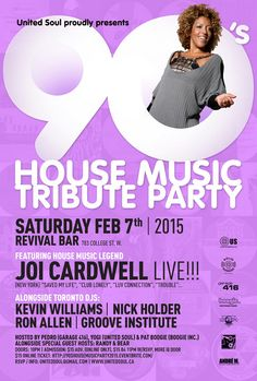 90's House Music Tribute Party w/ Joi Cardwell (Sat Feb 7th)- Eventbrite