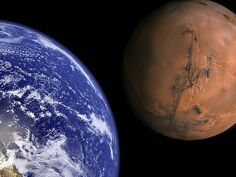 Scale of Earth and Mars