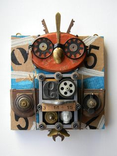 """""""Owl (Glasses)"""" -Recycled art collage    www.etsy.com/shop/redhardwick"""