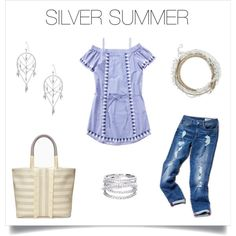 Silver accessories make this summertime look perfection! http://www.stelladot.com/deborahkachhal