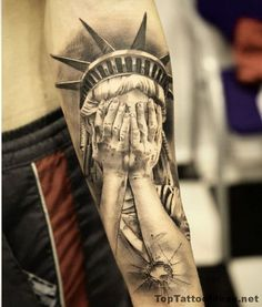 Tattoo picture of Statue Of Liberty Tattoo Idea Idea is one of many tattoo ideas listed in the Other Tattoos category. Feel free to browse other tattoo ide