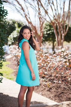 Everyone will be wanting to write a story about you in this dress. This gorgeous mint dress is ideal for the spring. It has a keyhole cut design at the front and back.