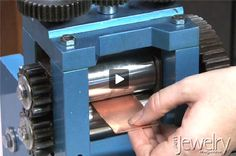Watch this video to learn about how to use a rolling mill to make a sheet of metal thinner. Description from art.jewelrymakingmagazines.com. I searched for this on bing.com/images