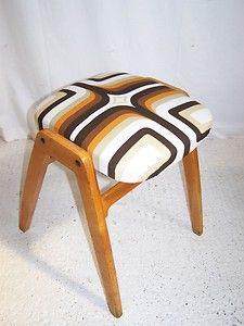 Vintage retro kitchen stacking 1950s stool