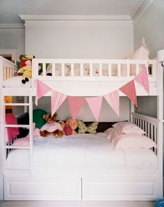 Girl's room.... would like to make some nice bunting eventually