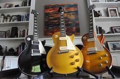 L to R: 2009 Gibson Les Paul JB R4, 1954 Gibson Les Paul, 2011 Gibson Les Paul VOS R4.