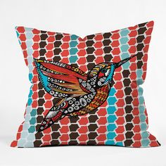 Julia Da Rocha Humm Throw Pillow | DENY Designs Home Accessories
