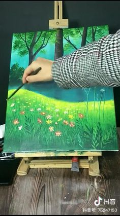 Cute Canvas Paintings, Canvas Painting Tutorials, Diy Canvas Art, Acrylic Painting Canvas, Watercolor Art Lessons, Art Painting Gallery, Cool Art Drawings, Crafts, Inspiration