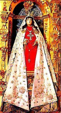 La Conquistadora - Our Lady of Conquest, Santa Fe, New Mexico My 9th g-grandmother, Josefa Lopez Sambrano de Grijalva was the woman who rescued La Conquistadora from the burning ruins of the church in Santa Fe in 1680, during the Pueblo Indian Revolt!