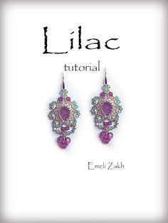 _____________________________________________________ This listing is for a PDF file containing instructions for making the Crystal earrings, not the earrings itself. Pattern  The beading pattern is very detailed. Step by step with illustrations of each step, material list, color list, and finished pictures of the earrings.  Pattern does not describe, only detailed flowcharts. For advanced masters. Requires the ability to read flowcharts.  Beadwork pattern for advanced bead weavers…