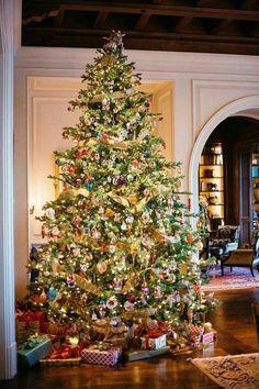 Beautifully lit Christmas tree #Christmas
