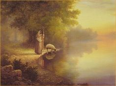 """What you seek is found in the silence of His presence. Take time to sit and listen. He has much to say to you.  """"Beside Still Waters"""" by Greg Olsen"""