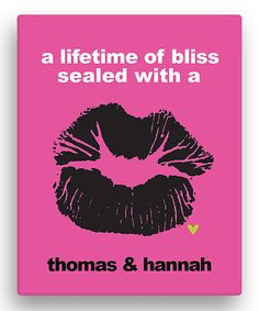 Look at this 'A Lifetime of Bliss' Personalized Canvas on #zulily today!