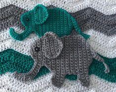 Jungle Nursery Crochet Pattern by CrochetHey on Etsy Crochet Elephant Applique Pattern; Jungle Nursery Crochet Pattern by CrochetHey on Etsy Crochet Whale, Crochet Elephant Pattern, Elephant Applique, Crochet Animals, Elephant Pillow, Crochet Blanket Edging, Crochet Motif, Crochet Stitches, Crochet Hooks
