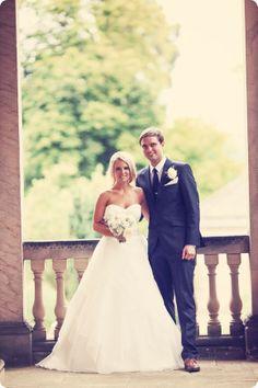 @palomablancawed Claire and Ryan - Style 4166 #PalomaBlanca #RealBrides #WeddingDress #PalomaBlancaBrides