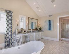 Master Bathroom Beach House ultimate california beach house with coastal interiors | home