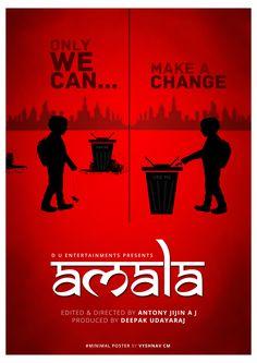 Minimal Poster Design Amala Short Film