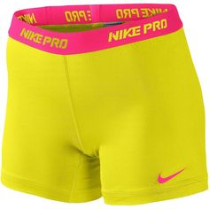 "Nike Pro 5"" Compression Short Women's ($28) ❤ liked on Polyvore"