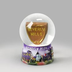Beverly Hills snow globe from snowdomes.com Snow Globe Kit, Diy Snow Globe, Snow Globes, Glass Globe, Beverly Hills, Cool Stuff, Fun, Check, Vintage